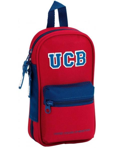 UCB Benetton Plumier mochila 4 estuches llenos, 33 piezas, escolar