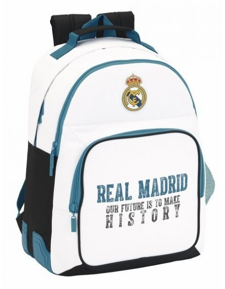 Real Madrid CF Mochila doble con cantoneras adaptable a carro