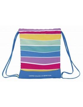 Benetton Saco mochila plano cuerdas 35 x 40 cm