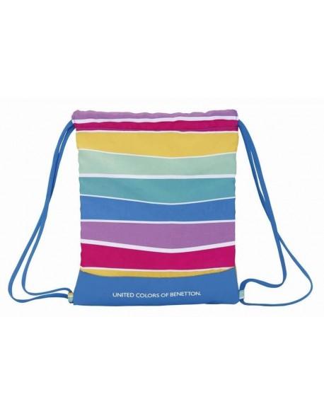 UCB Benetton Saco mochila plano cuerdas 35 x 40 cm