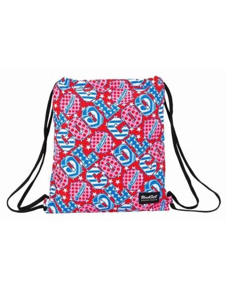 Blackfit8 Cool Saco mochila plano cuerdas 35 x 40 cm