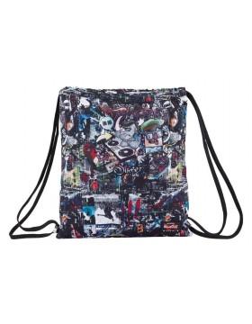 Blackfit8 Saco mochila plano cuerdas 35 x 40 cm