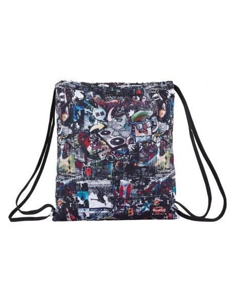 Blackfit8 Urban Saco mochila plano cuerdas 35 x 40 cm