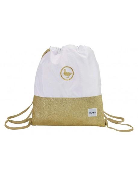 Moos Gold Saco mochila plano cuerdas 35 x 40 cm