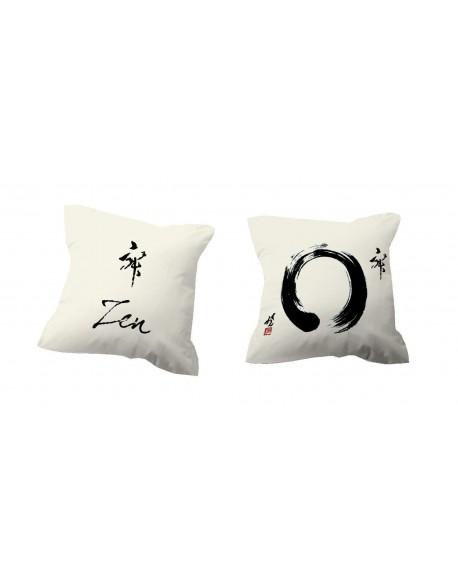 Tsuki Cojín reversible Japonés Zen 100% algodón