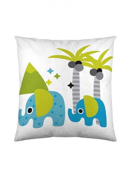 Naturals Cojín reversible Elephant 100% algodón