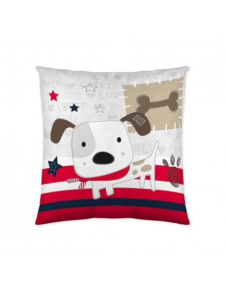 Naturals Cojín Love Dog 100% algodón