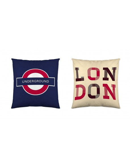 Funda Nordica Underground.Naturals Reversible Cushion Britain 100 Cotton La Casita De Daniela