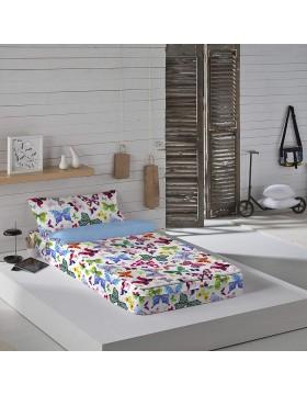 Naturals Saco nórdico con o sin relleno Colorful para cama 90