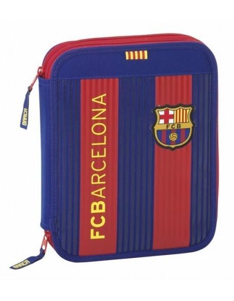 FC Barcelona Plumier doble, estuche con 56 piezas, niño