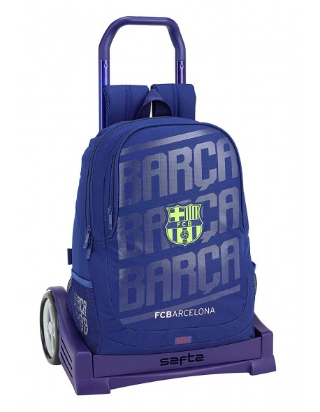 FC Barcelona Mochila con carro ruedas Evolution, Trolley