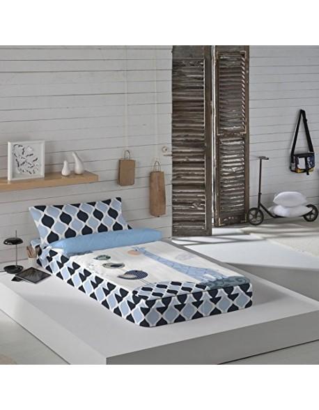 Naturals Saco nórdico con o sin relleno Blue Safari para cama 90