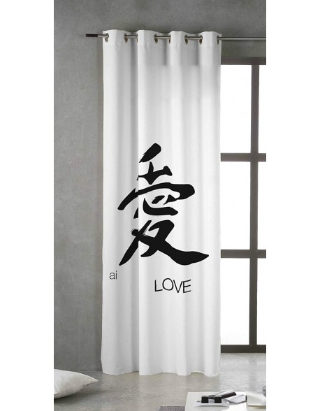 Tsuki Cortina japonesa con ojales Kore 100% algodón