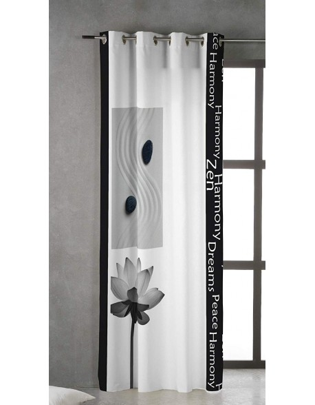 Tsuki Cortina japonesa con ojales Kukan 100% algodón