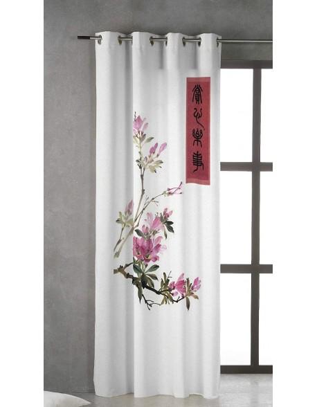 Tsuki Cortina japonesa con ojales Jinsei 100% algodón
