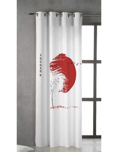Tsuki Cortina japonesa con ojales Hinata 100% algodón