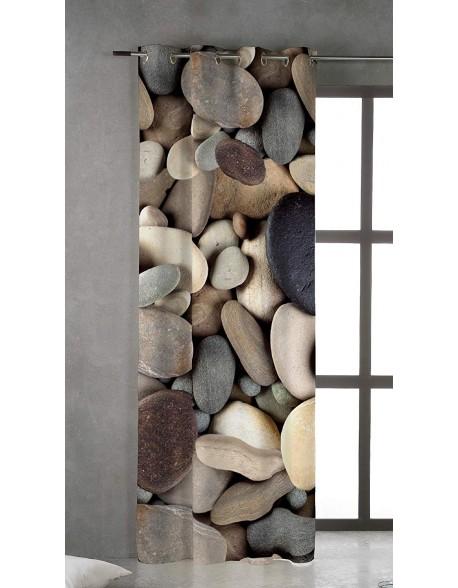 Naturals Cortina con ojales Stones 100% algodón