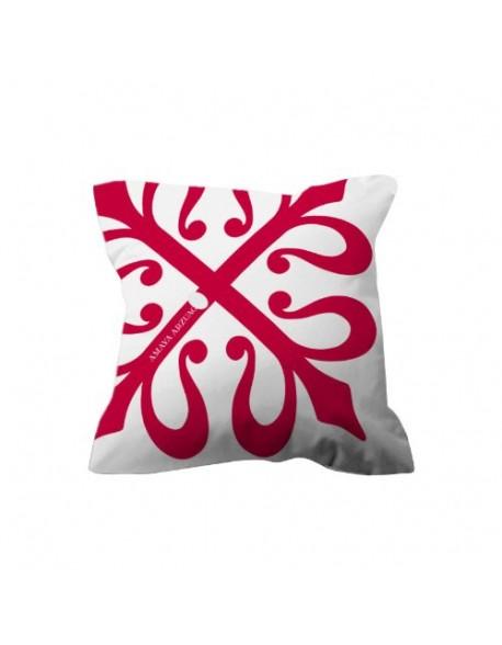 Amaya Arzuaga Cojín Logo Rojo 100% algodón