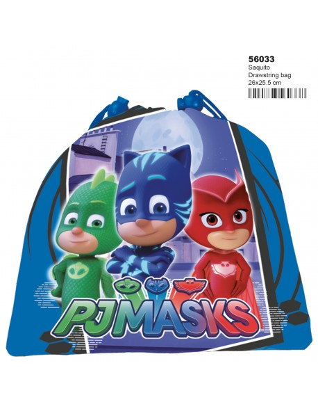 PJ Mask Official Drawstring Bag School Snack Lunch Backpack New 25cm x 20cm x 10