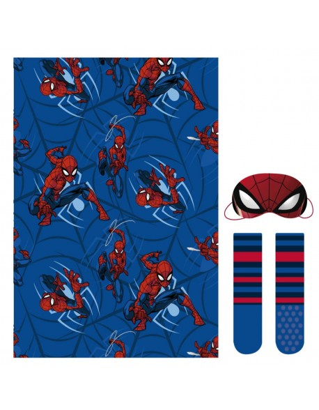 Spiderman Set caja regalo: manta, calcetines y antifaz