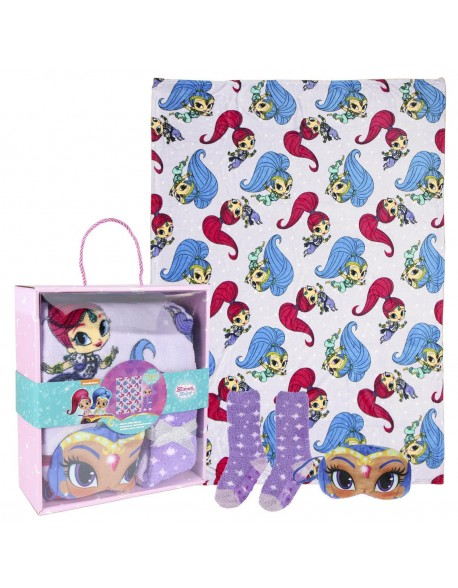 Shimmer and Shine Set caja regalo: manta, calcetines y antifaz