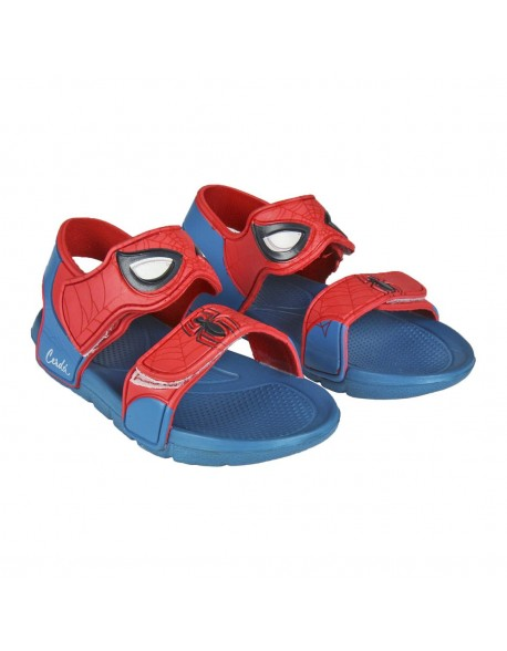 Spiderman Sandalias de playa abierta con doble velcro