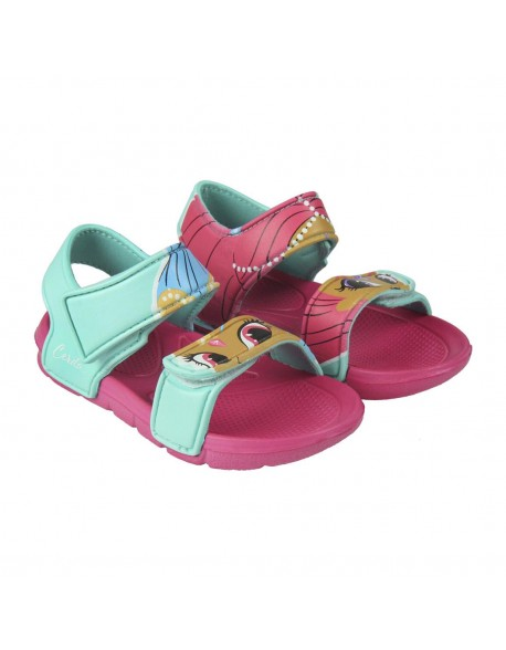 Shimmer and Shine Sandalias de playa abierta con doble velcro