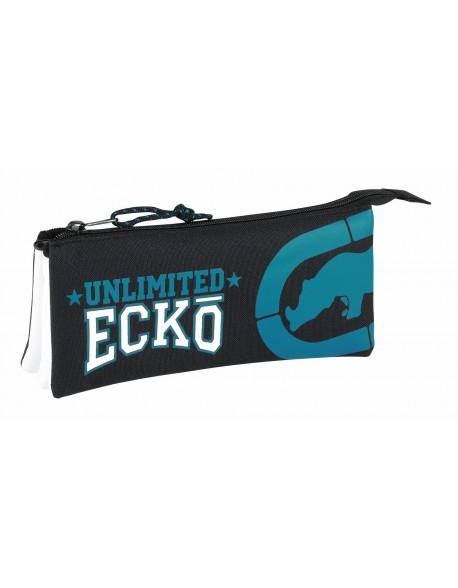 Ecko Unltd Estuche portatodo triple escolar