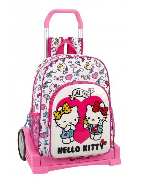 Hello Kitty Mochila con carro ruedas Evolution, Trolley
