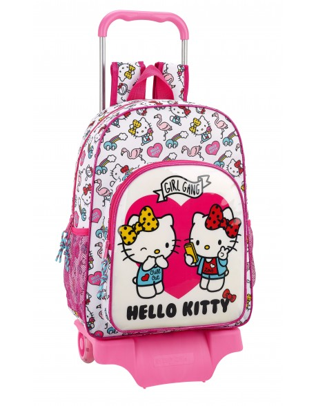 Hello Kitty Mochila grande ruedas, carro, trolley