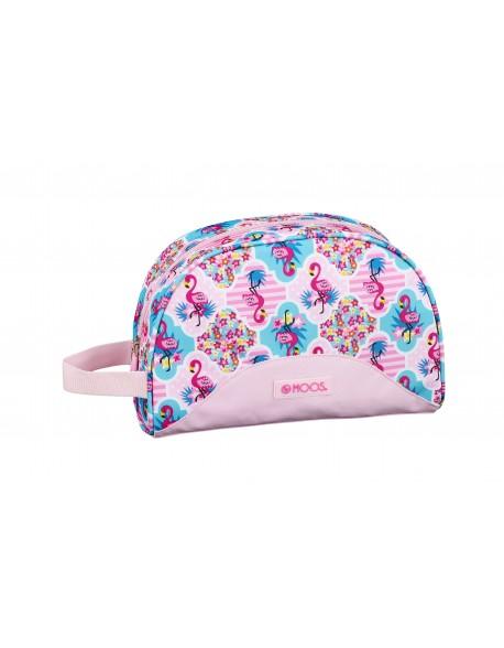 Moos Flamingo Pink Neceser, bolsa de aseo adaptable a carro