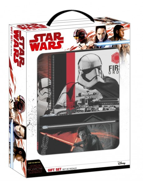 Star Wars Gift Box: Folder with 4 rings + notebook + pencil case