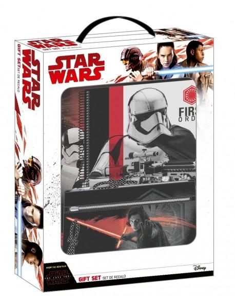 Star Wars Set de regalo: carpeta + libreta + estuche