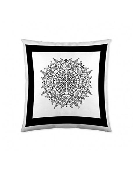 La Casita de Daniela Cojín reversible Mandala Frame 100% algodón