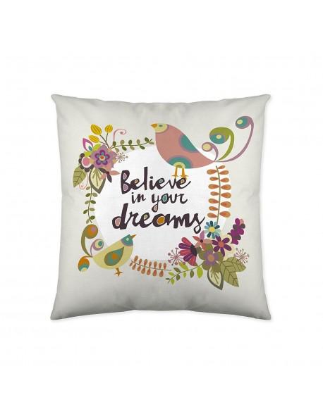 Valentina Cojín reversible Believe/Zorro 100% algodón