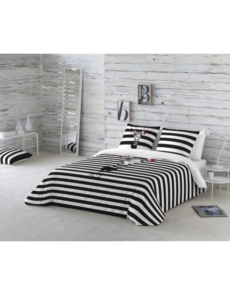 La Volátil Funda nórdica Happy Stripes 100% algodón