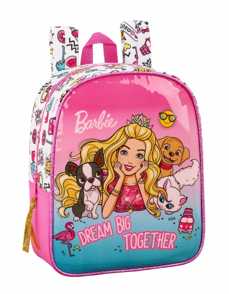 Barbie Mochila guardería niña adaptable carro