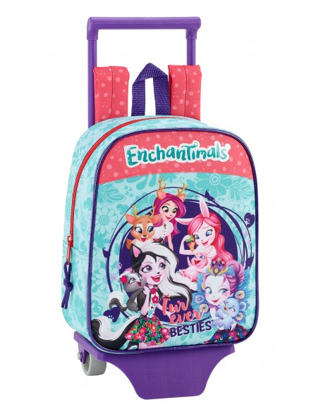 Enchantimals Mochila guardería ruedas, carro, trolley