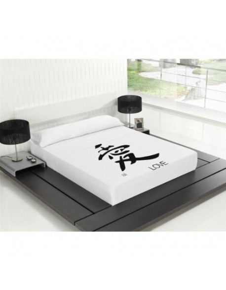 Tsuki Sábana encimera + funda almohada, japonesa, Kore 100% algodón