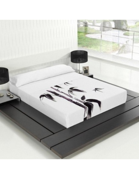 Tsuki Sábana encimera + funda almohada, japonesa, Take 100% algodón