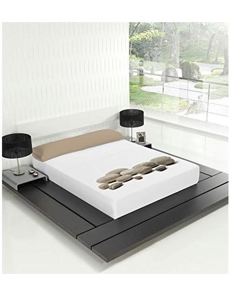 Tsuki Sábana encimera + funda almohada, japonesa, Heiwa 100% algodón