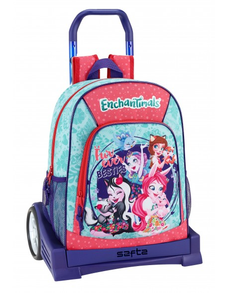Enchantimals Mochila con carro ruedas Evolution, Trolley