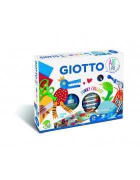 Giotto Art Lab Funny Collage Set de Papel y Colores