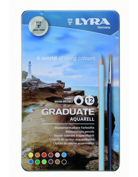Lyra Graduate Aquarell 12 Lápices de Colores