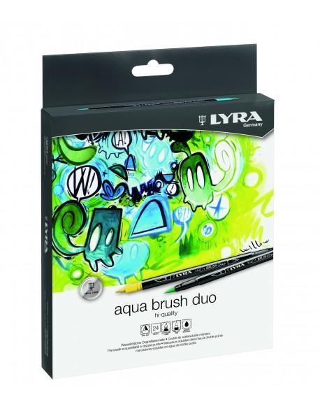 Lyra Aqua Brush DUO 24 Rotuladores de Colores