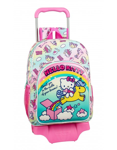 Hello Kitty Candy Unicorns Mochila grande ruedas, carro, trolley