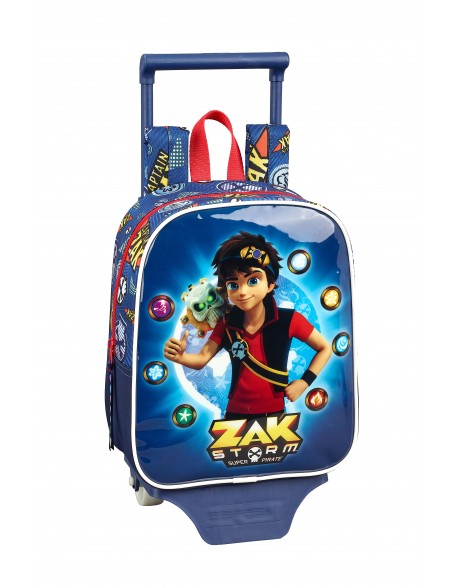 Zak Storm Captain Zak Mochila guardería ruedas, carro, trolley