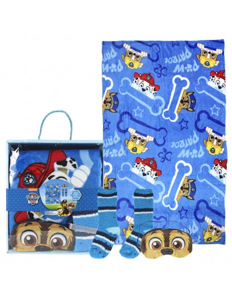Paw Patrol Set caja regalo: manta, calcetines y antifaz