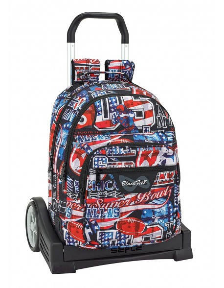 Blackfit8 Mochila con carro ruedas Evolution, Trolley
