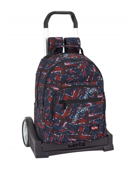 Blackfit8 Flags Mochila con carro ruedas Evolution, Trolley